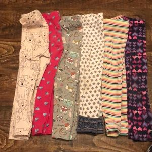 6 pair legging bundle, 3t